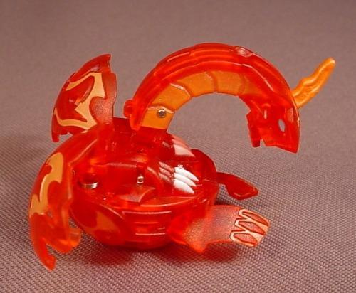 Bakugan Battle Brawlers Dragonoid Red Pyrus, 480G, Translucent, Sega, Spin Master
