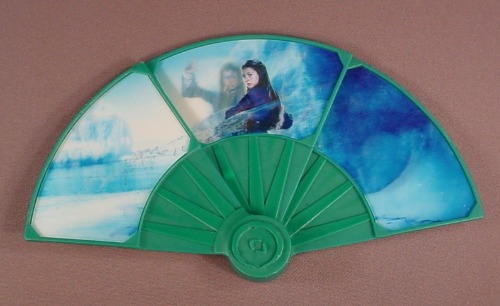 The Last Airbender Katara Fan Toy, 7 1/4 Inches Wide When Opened, 2010 McDonalds