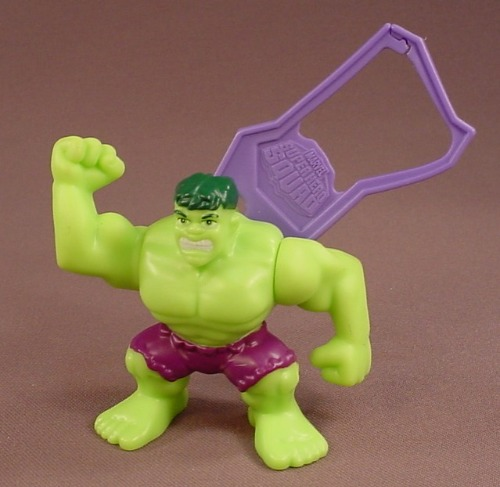 The Incredible Hulk Figure With A Clip, 3 Inches Tall, Super Hero Squad, 2009 Burger King