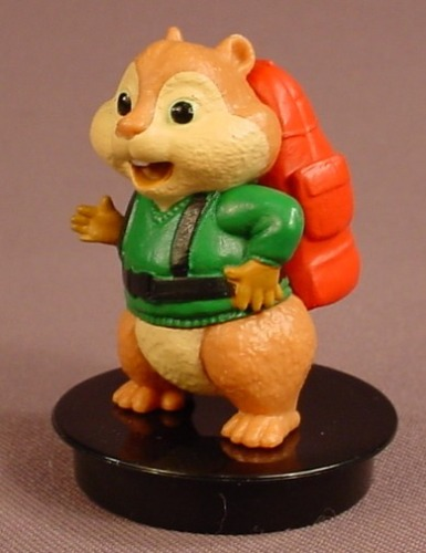 Alvin & The Chipmunks Movie Theodore PVC Figure On A Black Round Base, 2 1/2 Inches Tall