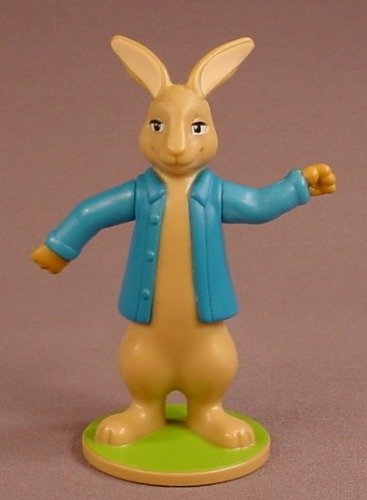 Peter Rabbit Plastic Figure On A Round Base, 4 1/2 Inches Tall, 2018 McDonalds