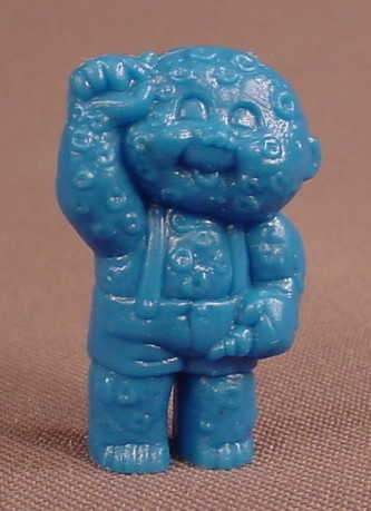Garbage Pail Kids Minikins Blue Figure, 1 3/8 Inches Tall, 1986 Topps Chewing Gum