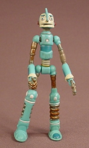 Robots Movie Rodney Copperbottom Figure, 3 1/2 Inches Tall, The Arms Legs & Head Move, 2005 Fox