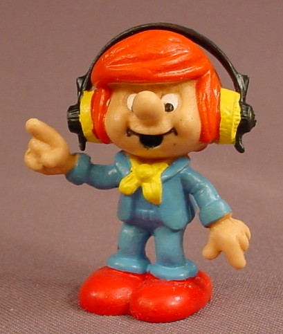 Sennheiser Electronics Promotional PVC Figure, Man With Headphones, 2 1/8 Inches Tall