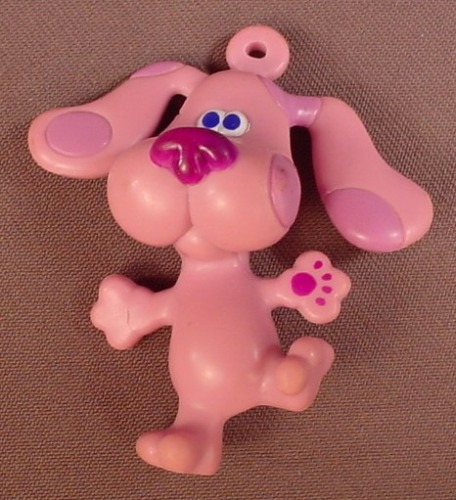 Blue's Clues Magenta The Dog PVC Figure With An Ornament Loop, 3 Inches Tall, 1999 Viacom