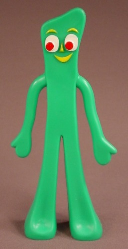 Gumby Bendable Figure, 5 3/4 Inches Tall, The Legs & Arms Bend, Bendy, Prema Toys Co