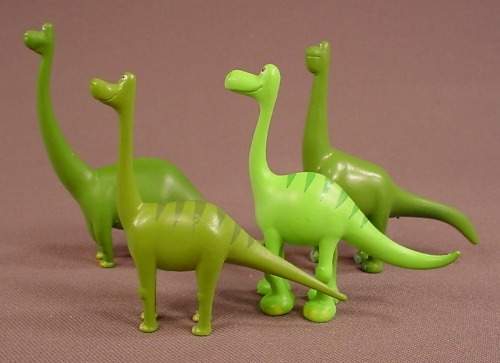 The Good Dinosaur Movie Set Of 4 PVC Figures, The Tallest Is 2 7/8 Inches