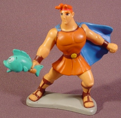 Toys For Hercules : Disney hercules holding a fish pvc figure on base quot tall