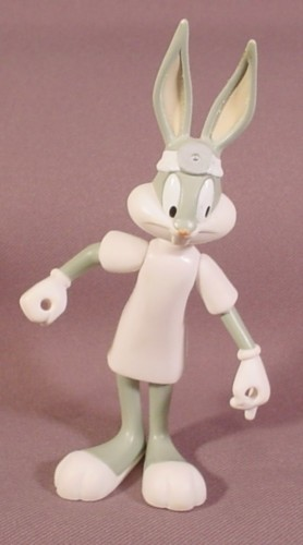 looney tunes bugs bunny as a doctor pvc figure 5 tall 1997 warner bros rons rescued treasures. Black Bedroom Furniture Sets. Home Design Ideas