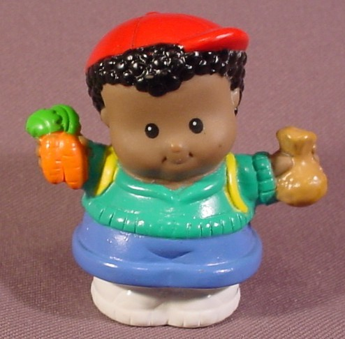 Excellent Fisher Price Little People 2001 African American Michael With Short Hairstyles For Black Women Fulllsitofus