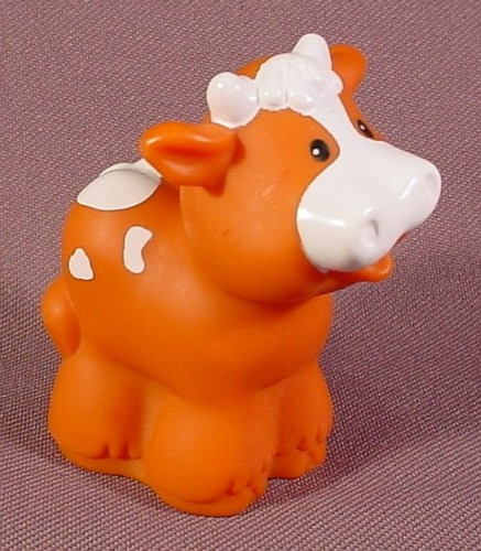 Fisher Price Little People 1997 Reddish Brown Baby Cow