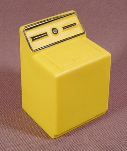 Fisher price vintage dollhouse yellow washing machine black pretend