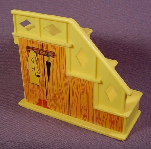 Fisher Price Vintage Yellow 3 Step Staircase With Closet
