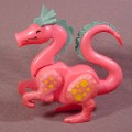 Fisher Price Vintage Pink Dragon With Turquoise Accents (A), 993 Play Family Castle