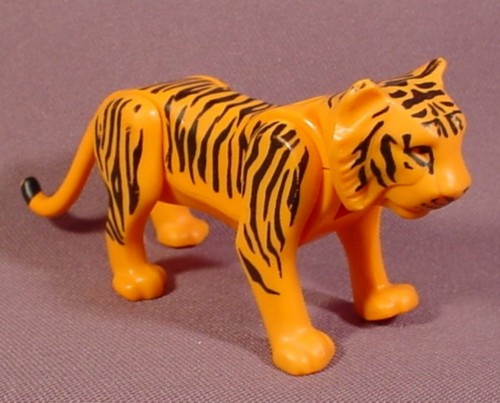 Fisher Price Adventure People Series Orange Tiger With Black Stripes Animal Figure, 304