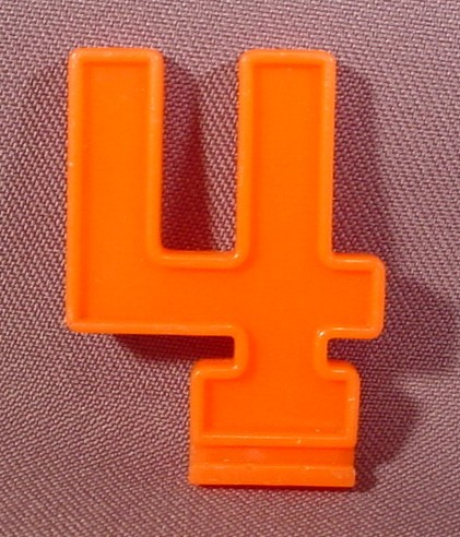 "Fisher Price Orange Number ""4"" Slide In Accessory, 2152 Create-A-Cake ..."