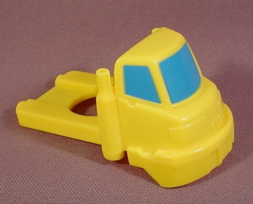Fisher Price Flip Track Yellow Truck Cab With Blue Windows