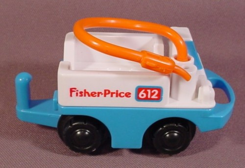 Fisher Price Flip Track Blue Amp White Fuel Truck With