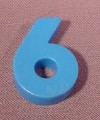"Fisher Price Magnetic Number Blue ""6"" Or ""9"", #176 School Days Desk"