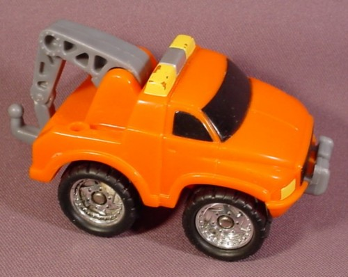 Tow Trucks in Action Fisher Price Orange Tow Truck