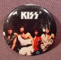 "Pinback Button 1 1/4"" Round, Kiss, Hard Rock, Heavy Metal, Music"