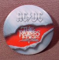 "Pinback Button 1 1/4"" Round, Ac Dc, The Razors Edge, Hard Rock, Heavy Metal, Music"