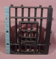 Fisher Price Imaginext Black Stone Wall With Black Jail Or Dungeon Cell With Opening Door
