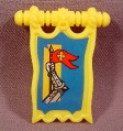 Fisher Price Imaginext Clip On Yellow Knight Pennant Banner Flag, 78333 Battle Castle