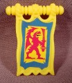 Fisher Price Imaginext Clip On Yellow Griffon Pennant Banner Flag, 78333 Battle Castle
