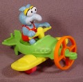 Mcdonalds 1990 Muppet Babies Gonzo PVC Figure With His 3 Part Airplane