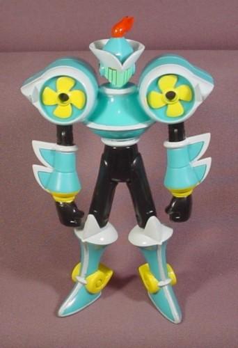 """Megaman Windblastman Action Figure, 6 1/4"""" Tall, 2004 Mattel, Virus Attack Series"""