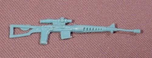 Gi Joe Light Blue Dragunov Svd Sniper Rifle Weapon From 1986 Accessory Pack #4