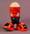 Tech Deck Dude Norman, #036, Red Mask Color Variation, 2001 X-Concepts, No Arms