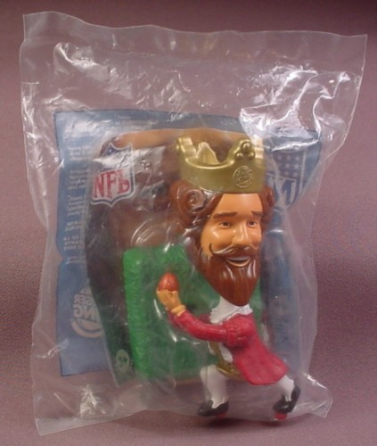 Burger King 2006 Super Bowl Receiver Catching Ball Bobblehead Toy, Sealed