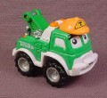 "Tonka Lil Chuck Green Tow Truck With ""T"" On Hat, 2004 Maisto Hasbro"