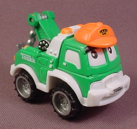 "Tonka Lil Chuck Green Tow Truck With ""Ttt"" On Hat, 2002 Hasbro"