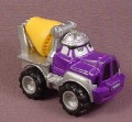 Tonka Lil Chuck Purple Cement Truck With Silver Hat, 2000 Maisto Hasbro