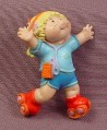 Cabbage Patch Kids Mini PVC Figure Roller Skating Blue Shirt