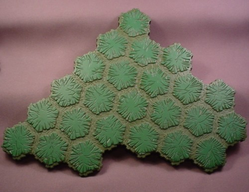 Heroscape 24 Hex Swamp Terrain Tile, Hasbro, 24 Space, Dark Green