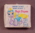 My Little Pony G1 Empty Box For Drink N Wet Magic Diapers, 1988 Hasbro