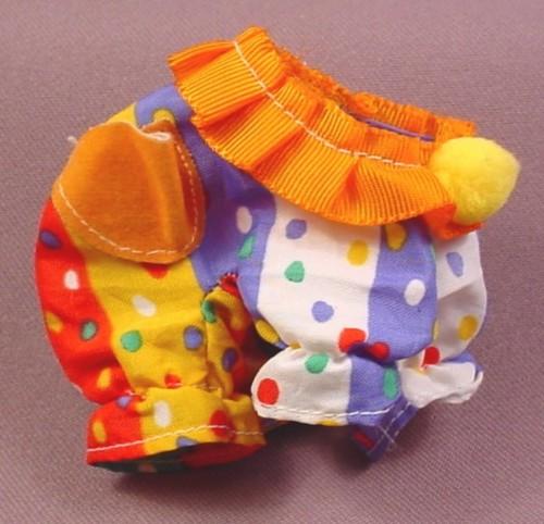 My Little Pony G1 Baby Wear Clown Costume With Yellow Pom Pom, 1985 Hasbro