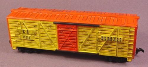 Tyco Ho Scale Durango Stock Cattle Car Kc 40394, Doors Open, Railroad Train