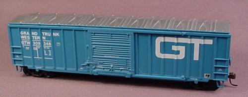 Oo Scale Gauge Blue Grand Trunk Western Box Car Boxcar Gtw 309348, Railroad Train