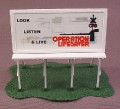 Ho Scale Gauge Billboard On Base, Operation Lifesaver, Railroad Train