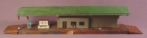 N Scale Gauge Forest Hills Suburban Train Station Platform Building, Railroad Train