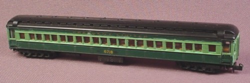 N Scale Gauge Lima Coach Car, Crescent Limited 6718, Green &amp; Black, Railroad Train