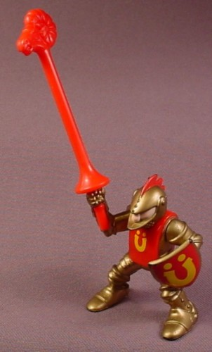 Fisher Price Gold Jousting Knight With Red Lance, 7123 77123