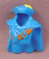 Fisher Price Imaginext Dark Blue Cloak Cape Cowl With Yellow Feather & Belt, B1472