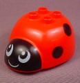 Lego Duplo 31226 Red Ladybug Body With Black Spots & Face Pattern, 2831 2833