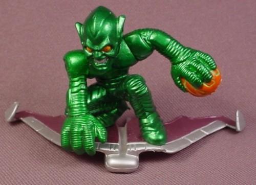 Spider Man Green Goblin Figure On Glider 2 1 4 Quot 2007 Habro Marvel Super Hero Squad Series